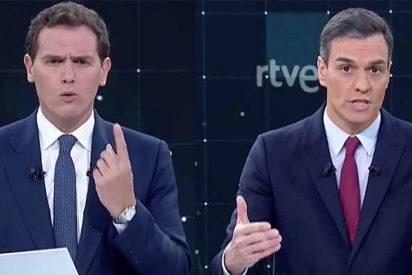 Debate: Rivera repartiendo estopa y Casado a la espera acorralan a Sánchez y borran a Iglesias