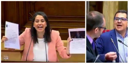 Los golpistas del Parlamento catalán enloquecen y montan un gallinero cortándole el micro a Arrimadas