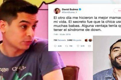 """David Suarez, colaborador de Dani Mateo, se burla de una chica con síndrome de Down: """"Me hizo la mejor mamada, usó muchas babas"""""""