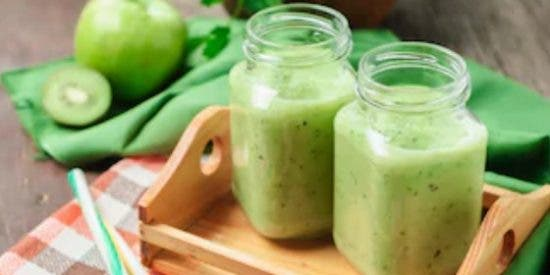 Batido de kiwi y manzana: remedio natural contra el estreñimiento