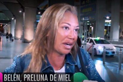 """Belén Esteban vuelve """"muy quemada"""" de las vacaciones con su novio Miguel"""