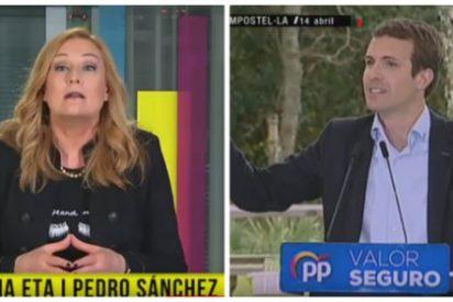 Elisa Beni desbarra en la golpista TV3 con un nuevo rebuzno contra el Partido Popular por poner a Bildu en su sitio