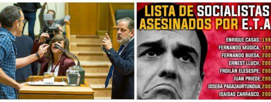 """Sánchez pisotea la memoria de los asesinados socialistas pactando con bilduetarras que llaman """"nazi"""" a la Policía"""