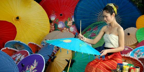 Tailandia: Las mil y una sombrillas de Bo Sang