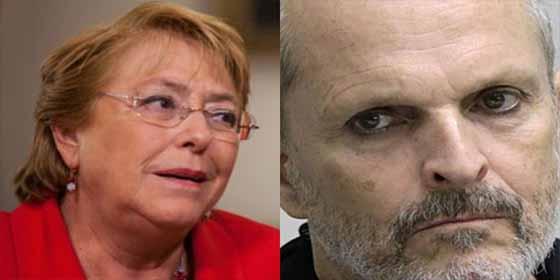 """Miguel Bosé acosa a Michelle Bachelet en México: """"Me he enterado cuál es su hotel"""""""