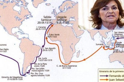 Carmen Calvo encarga a un historiador certificar que la primera Vuelta al Mundo no fue una hazaña española