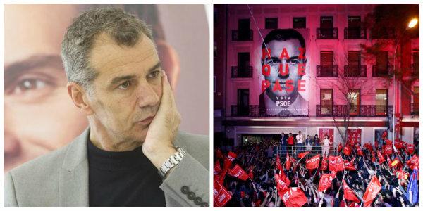 """Toni Cantó sobre los gritos contra Rivera en la sede del PSOE: """"¡Caramba! No decían no con Otegi"""""""