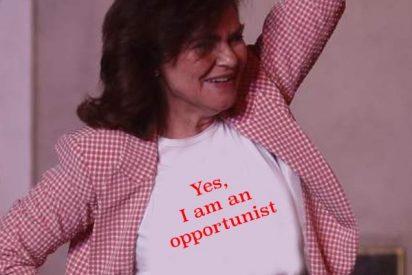 Los mejores memes sobre el forzado look de Carmen Calvo en la noche electoral