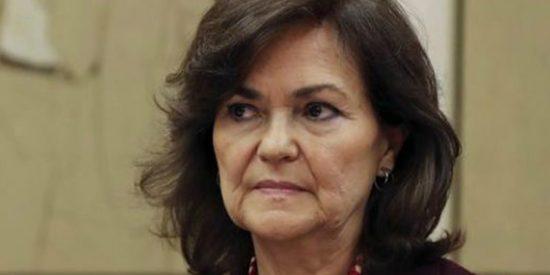 La 'vice' Carmen Calvo estaba en el Gobierno socialista que aprobó el 'falso préstamo', origen de los ERE