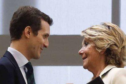 Esperanza Aguirre pide a Pablo Casado que aguante al frente del partido porque 'la derrota del PP ya había empezado' con Rajoy