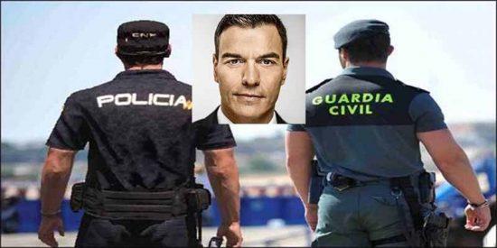 """La carta de Policía y Guardia Civil al tramposo Sánchez: """"Nos has dejado 5.123 euros por debajo de los Mossos"""""""