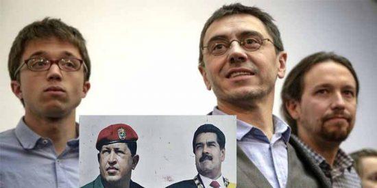 Pablo Iglesias, Monedero y Errejón se repartían 200.000 € al año en sueldos de dinero chavista
