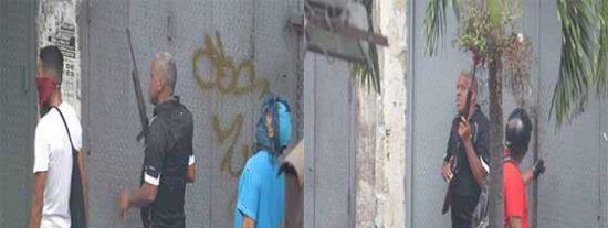 Dos heridos de bala por paramilitares chavistas en una manifestación opositora en Caracas