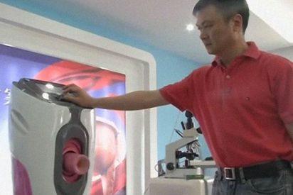 """El """"colector automático de semen"""" que está siendo un éxito en los hospitales chinos"""