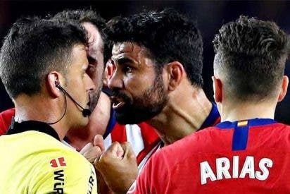 Este fue el insulto de Diego Costa al árbitro que dejó al Atlético de Madrid con 10, pero con el Barça siempre pasa algo
