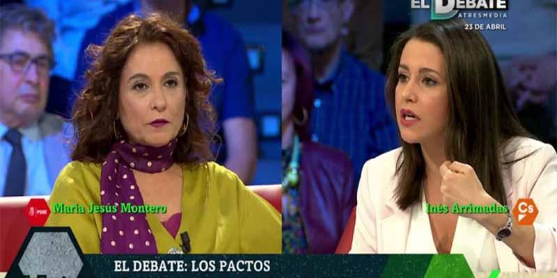 Inés Arrimadas gana el primer debate, arrinconando a la ministra por el apoyo de los independentistas a Sánchez