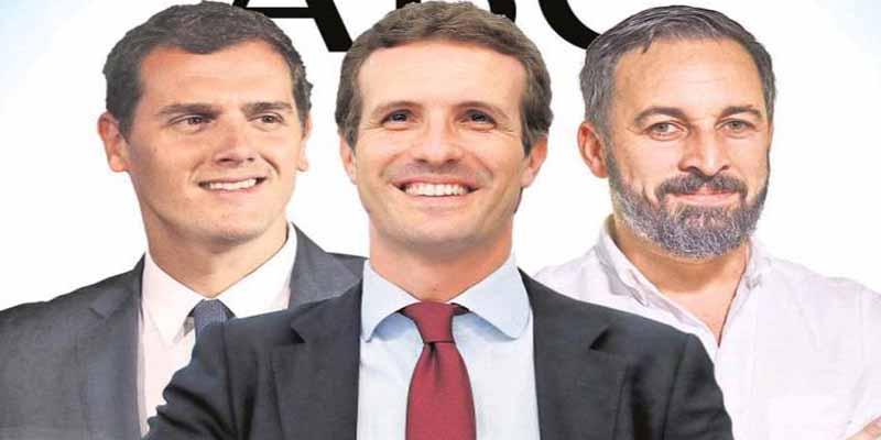 La alianza PP, Ciudadanos y VOX tiene al alcance la mayoría absoluta