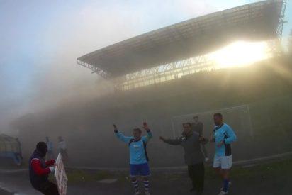 """""""Secuestro"""" en pleno juego de fútbol en Italia: Un helicóptero, armas y encapuchados"""