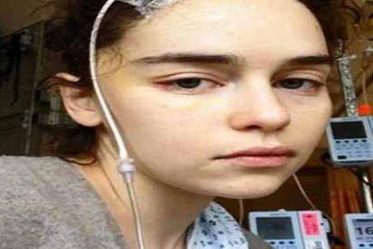 """Las imágenes íntimas de Emilia Clarke de """"Game of Thrones"""" durante su tratamiento por el aneurisma cerebral"""