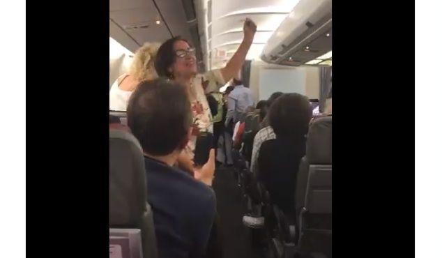 Vídeo: Pillan a la familia de un funcionario chavista en un vuelo a Madrid y se lía una trifulca