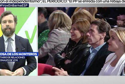 """Espinosa de los Monteros (VOX) reparte cera a las mujeres de Ciudadanos, a 'Alberto' Rivera y al """"jarrón chino"""" Aznar"""