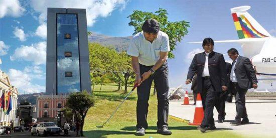 Evo Morales salta de las barricadas a las mariscadas: avión privado, golf, jacuzzi y coche blindado