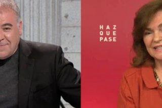 Lo que se nos viene encima: Ferreras y Carmen Calvo, amiguetes de feliz resaca en la tele del régimen