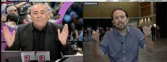 "Momento patético en LaSextaTV: Iglesias acusa a gritos a Ferreras de ""proteger"" a Eduardo Inda aún sabiendo ""que sus informaciones son falsas"""