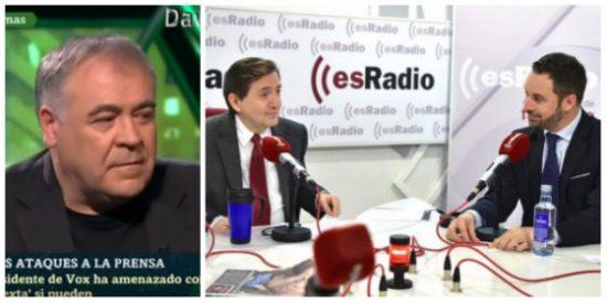 Los insultos y mentiras de Ferreras contra Abascal y Losantos demuestran el acojone de laSexta con Vox