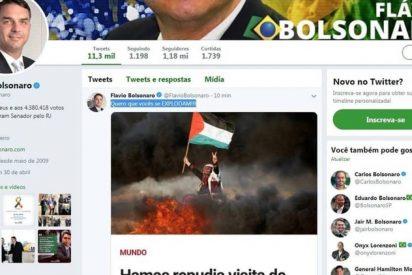 """El hijo de Jair Bolsonaro le escribe al grupo terrorista Hamas: """"Quiero que ustedes se exploten"""""""