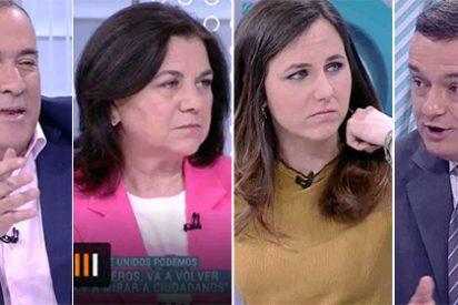 'Los Desayunos' de Podemos: 'El Lechero', Lucía Méndez, Chema Crespo y Ione Belarra en la TVE diseñada por Iglesias
