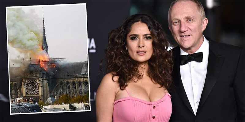Louis Vuitton, L'Oreal, la petrolera Total, Salma Hayek... las donaciones para Notre Dame suman ya 600 millones