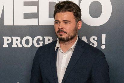 A Rufián le cae 'la del pulpo' por burlarse de la entrevista de Bertín Osborne a Casado, Rivera y Abascal