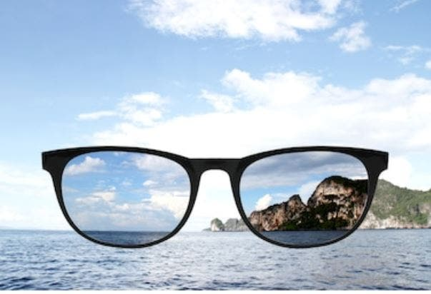 visión con gafas polarizadas
