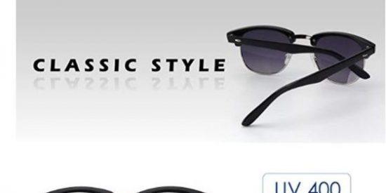 c37552e50c Gafas de sol polarizadas con diseño retro, lentes de 5.2 cm, alto de lentes  42 mm. Protección UV400, y UVB. Gracias a estas lentes previenes los ...
