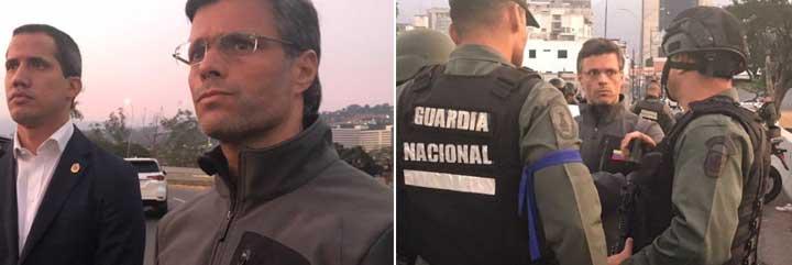 Vídeo: Juan Guaidó y Leopoldo López en las calles Caracas