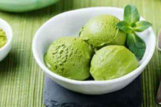 Helado de té verde sin heladera