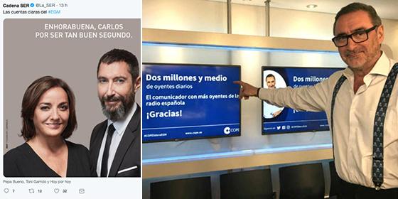 La SER lleva un pique tremendo con Herrera y la COPE y lanza un contragolpe mediático para sacar pecho de líder