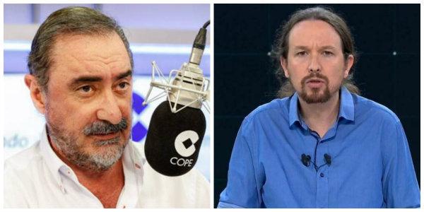 """Carlos Herrera se mofa de la vestimenta de Pablo Iglesias en el debate:""""Parecía que estaba sirviendo camarones"""""""