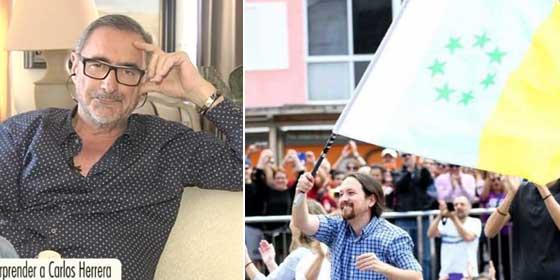 """Herrera muele a palos al 'independentista canario' Pablo Iglesias: """"Esta serie de imbéciles que blanden según qué banderitas deberían saber las muertes que han causado"""""""