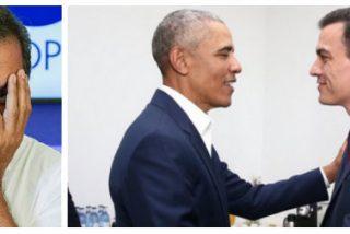 """Carlos Herrera se pitorrea con el empalagoso encuentro entre Sánchez y Obama: """"Niñas, ponedme música de arpa"""""""