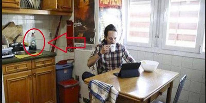 Pablo Iglesias miente hasta con el detergente: dice que usa Mistol pero en Vallecas tenía Fairy