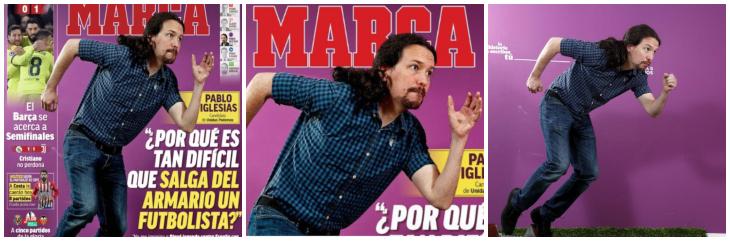 """Marca hace el ridículo con la portada de Pablo Iglesias: """"Es como ese amigo que te dice que se va a apuntar al pádel"""""""