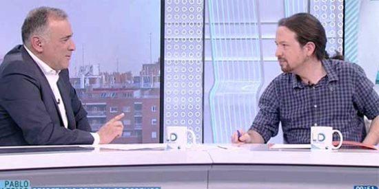 Fortes, mal periodista, peor compañero: Iglesias se chotea de su colega Franganillo y él hace como si no le conociera