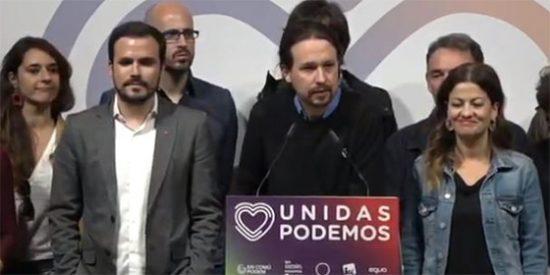 La cara de funeral de Pablo Iglesias que se le ha quedado tras el batacazo de Podemos: pierde la mitad de escaños