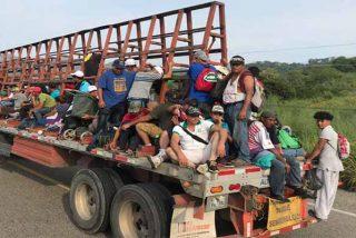 La Policía de México y la 'Migra' arrestan a cientos de migrantes de una caravana de 3,000 centroamericanos