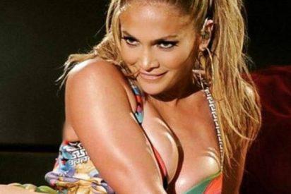 Los muslos trillados de Jennifer López en esta foto en la que intenta parecer una diosa griega no dan más de sí
