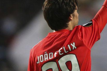 Joao Félix deja en ridículo a Cristiano Ronaldo en el partido del Atlético de Madrid ante la Juventus