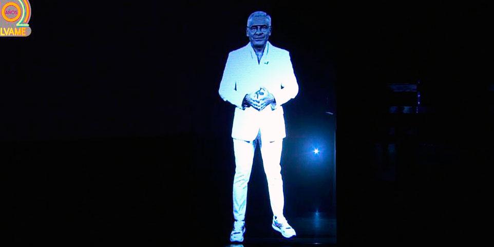 Un holograma de Jorge Javier aparece en 'Salvame' para celebrar los 10 años del programa con más demandas de TV