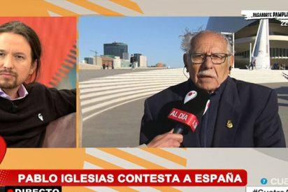"""Este jubilado deja en ridículo a Pablo Iglesias: """"Tú que ahora perteneces a la casta, ¿cómo lo llevas?"""""""